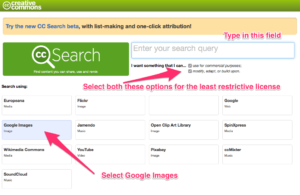 CC Search page